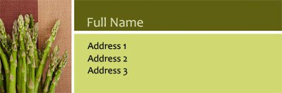 Aparagus Address Label Template